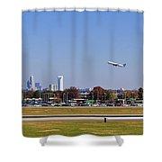 Charlotte Airport Shower Curtain