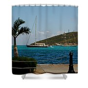 Charlotte Amalie Harbor Shower Curtain