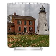 Charlotte-genesee Lighthouse Shower Curtain