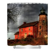 Charlotte-genesee Lighthouse  Shower Curtain by Joel Witmeyer
