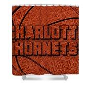 Charlotte Hornets Leather Art Shower Curtain