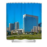 Charlotte North Carolina Cityscape Of Downtown Shower Curtain