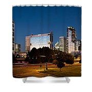 Charlotte North Carolina Skyline At Dusk Shower Curtain