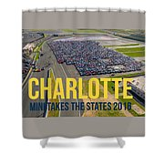Charlotte - Rise/shine W/text Shower Curtain