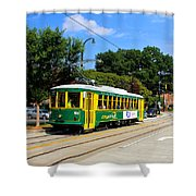Charlotte Streetcar Line 1 Shower Curtain
