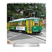 Charlotte Streetcar Line 3 Shower Curtain
