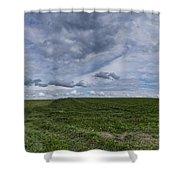 Charlotte Vermont Hay Field Farm Grass Shower Curtain