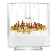 Charlotte Watercolor Skyline Shower Curtain