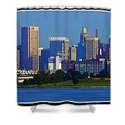 Charm City Skyline Shower Curtain