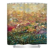 Charming Chasms Series Fall Frolic Shower Curtain
