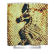 Charming Vintage Seahorse Shower Curtain
