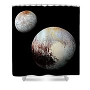 Charon And Pluto Enhanced Shower Curtain