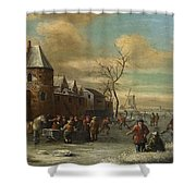 Charriot And Skaters Shower Curtain
