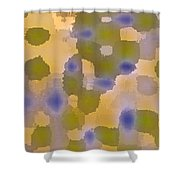 Chartreuse Two  By Rjfxx. Original Abstract Art Painting. Shower Curtain