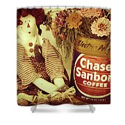 Chase And Sanborn Shower Curtain