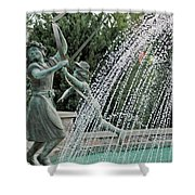 Chase Around The May Pole Shower Curtain