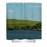Chase Lake Pano 1 Shower Curtain