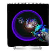 Chase Violet Shower Curtain