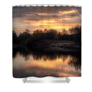 Chasewater Sunrise Shower Curtain