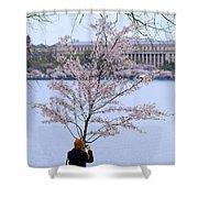 Chasing Blossoms Shower Curtain