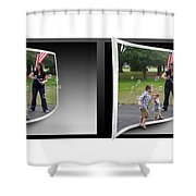 Chasing Bubbles - Gently Cross Your Eyes And Focus On The Middle Image Shower Curtain