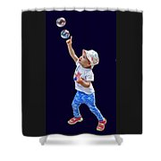 Chasing Bubbles Shower Curtain