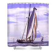 Chasing Columbia Shower Curtain
