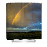 Chasing Nebraska Lightning 009 Shower Curtain