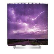 Chasing Nebraska Lightning 012 Shower Curtain