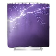 Chasing Nebraska Lightning 043 Shower Curtain