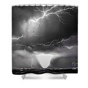 Chasing Nebraska Lightning 052 Shower Curtain
