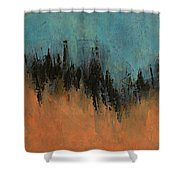 Chasing Stories Abstract Painting Shower Curtain