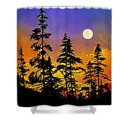 Chasing The Moon Shower Curtain