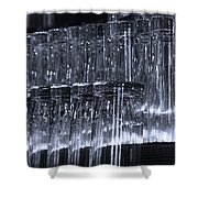 Chasing Waterfalls - Blue Shower Curtain