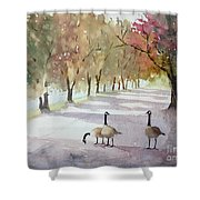 Chat In The Park Shower Curtain