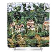 Chateau At Medan, 1880 Shower Curtain