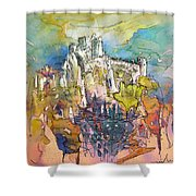 Chateau Cathare De Puylaurens 01 - France Shower Curtain