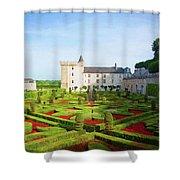 Chateau De Villandry, Loire, France Shower Curtain