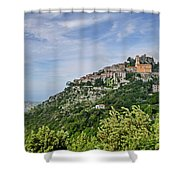 Chateau D'eze On The Road To Monaco Shower Curtain