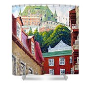 Chateau Frontenac 02 Shower Curtain