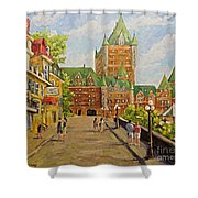 Chateau Frontenac Promenade Quebec City By Prankearts Shower Curtain