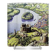 Chateau Gaillard, Also Known As The New Castle Of The Rock  Shower Curtain