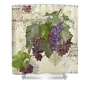 Chateau Pinot Noir Vineyards - Vintage Style Shower Curtain