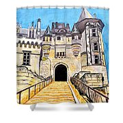 Chateau Saumur, A Long Way Up Shower Curtain