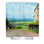 Chateauneuf, Cote-d'or, France, Village Lane Shower Curtain