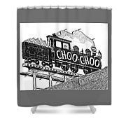 Chattanooga Choo Choo Sign In Black And White Shower Curtain