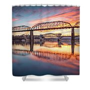 Chattanooga Sunset 5 Shower Curtain