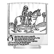 Chaucer: The Prioress Shower Curtain