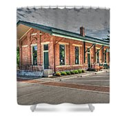 Glendale,ohio Train Depot Shower Curtain