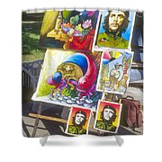 Che Guevara And Other Artwork Shower Curtain